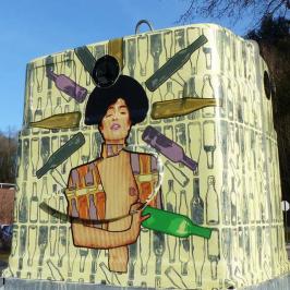 Le Mur Epinal – Avec l'artiste JBC et le SICOVAD, ayez l'art de recycler le verre !